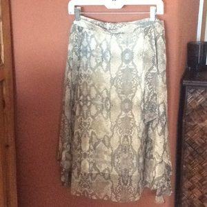 Snake print , lined skirt